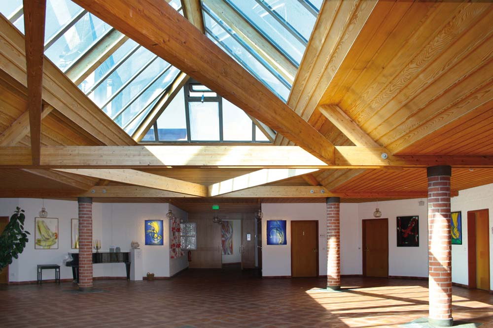 Glasdach im Foyer